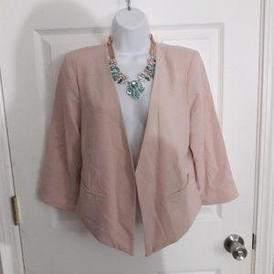 Final Touch pink crop blazer size medium